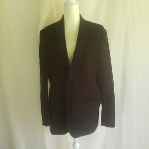 Men polo cordoroy black sport coat
